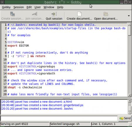 Editace souboru .bashrc se zapnutím zvýraznění syntaxe (pro shell)