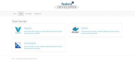 Fedora_developer_portal_tools