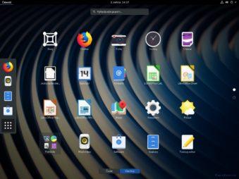 Přehled aplikací v menu činnosti