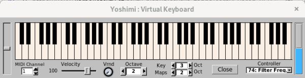 Virtuální klávesnice Yoshimi